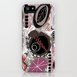 Abstract Colorful Floral Pattern iPhone Case