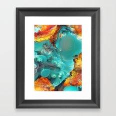 Mineral Series - Rosasite Framed Art Print
