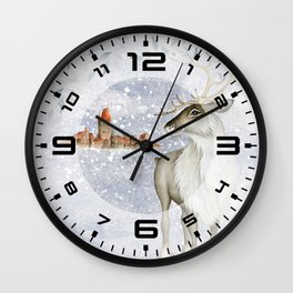 Christmas vintage deer #2 Wall Clock