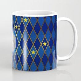 Moon & Stars - Midnight Blue Harlequin Coffee Mug