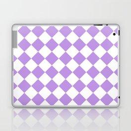 Diamonds - White and Light Violet Laptop & iPad Skin