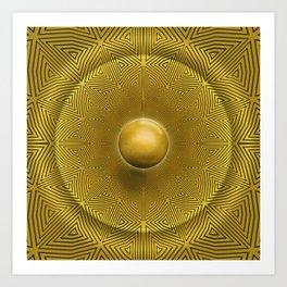 Golden Sunrise Pattern Art Print