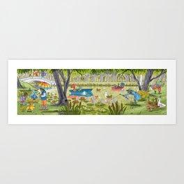 Rain Garden Art Print