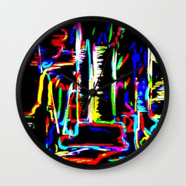 The Wired City Wall Clock
