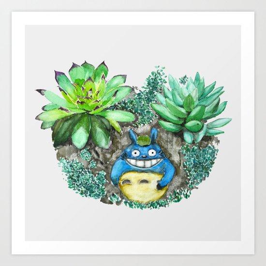 succulent plant set Art Print