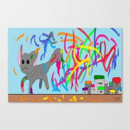 Artistic kitten  Canvas Print