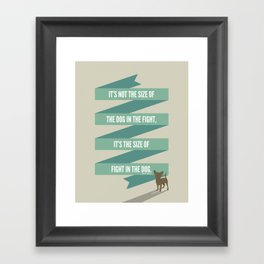 The Mighty Chihuahua Framed Art Print