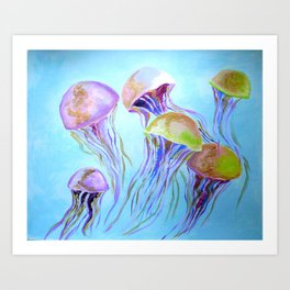 jellies Art Print