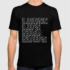 loose lips sink ships dazzle typography Black Mens Fitted Tee MEDIUM