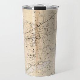 Vintage Map of New Rochelle NY (1867) Travel Mug