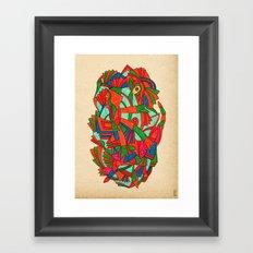 - faces S - Framed Art Print
