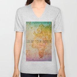 Color your World Unisex V-Neck