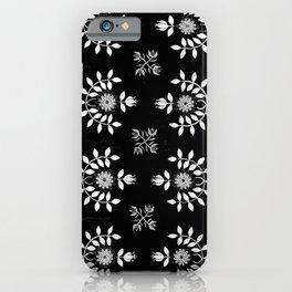 Black and White Noir Floral Prairie  iPhone Case