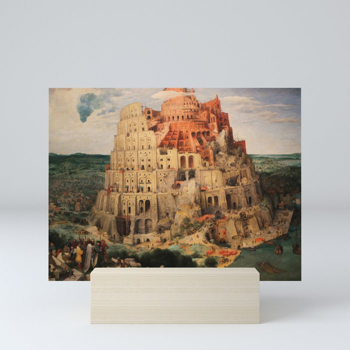 The Tower Of Babel By Pieter Bruegel The Elder Mini Art Print By Palazzoartgallery Society6