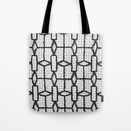Vintage Window Grille Cross Stitch Pattern #4 Tote Bag