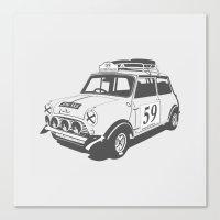 mini Canvas Prints featuring Mini by Remove Before . . .