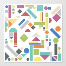 Geometry 1 colorful Canvas Print