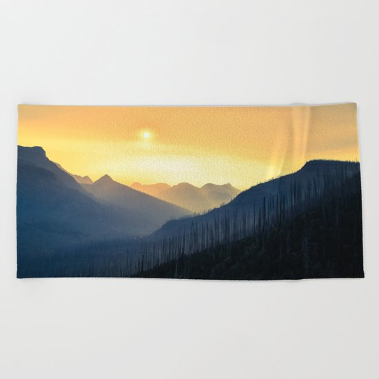 Sunrise Over Mountains Beach Towel
