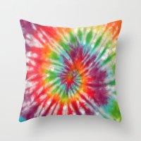 tye dye Throw Pillows featuring Tye Dye My Heart by AmorFati