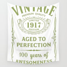 Green-Vintage-Limited-1917-Edition---100th-Birthday-Gift---Sao-chép Wall Tapestry