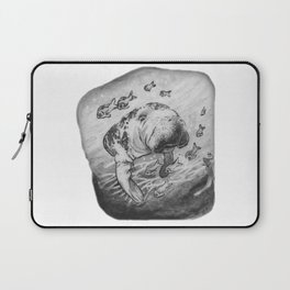 Manatee and fish by annmariescreations Laptop Sleeve