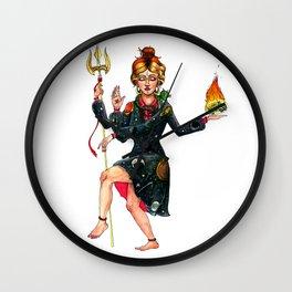 Frizzle Shiva Wall Clock
