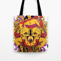 rockabilly Tote Bags featuring Sinful rockabilly  by Tshirt-Factory