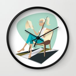 Pesky Little Sketches Wall Clock