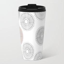 Abstract Foral Travel Mug