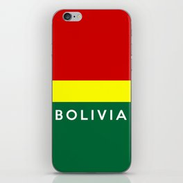 bolivia country flag name text iPhone Skin