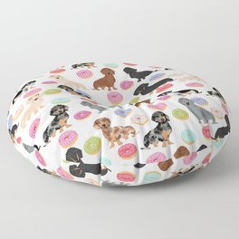 Dachshund weener dog donuts cutest doxie gifts for small dog owners Floor Pillow