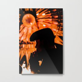 Face profile orange Metal Print