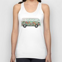 van Tank Tops featuring Hippie van by eARTh