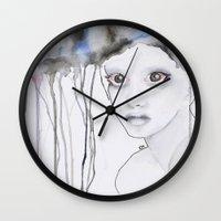 depression Wall Clocks featuring Depression I by katimarco