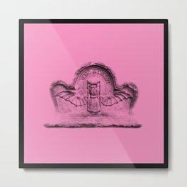 Pink goth tombstone detail Metal Print