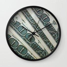 100 Money Dolar Wall Clock