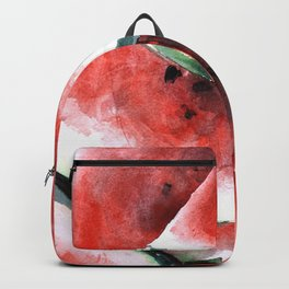 Juicy Watermelon in Watercolor- Food Art Backpack