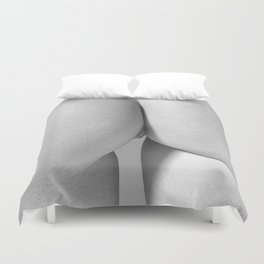 Imperfect Symmetry in a woman body Duvet Cover