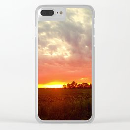 Chasing fire       (Curtain panel #2) Clear iPhone Case