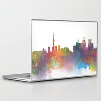 toronto Laptop & iPad Skins featuring Toronto  by Daniel McLaren