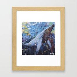 wind and waves grew calm Framed Art Print