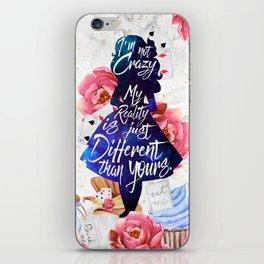 Alice in Wonderland - I'm Not Crazy iPhone Skin