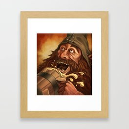 """Ha Ha!  Beer is good!!"" Framed Art Print"