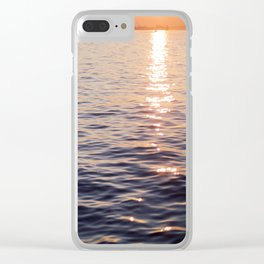 Puget Sound Sunset Clear iPhone Case