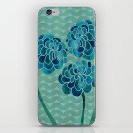 Blue Chrysanthemums iPhone Skin