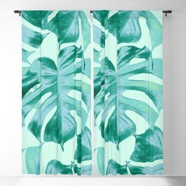Tropical Monstera Leaves Dream #4 #tropical #decor #art #society6 Blackout Curtain