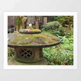 Stone lantern in Mino-o Art Print