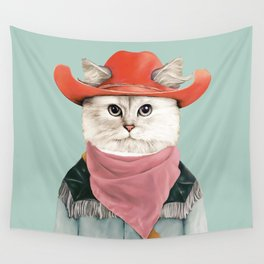 Rodeo Cat Wall Tapestry