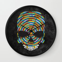 Hypnotic Skull Wall Clock