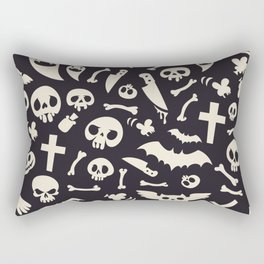 Halloween Symbols Pattern Contrast Rectangular Pillow